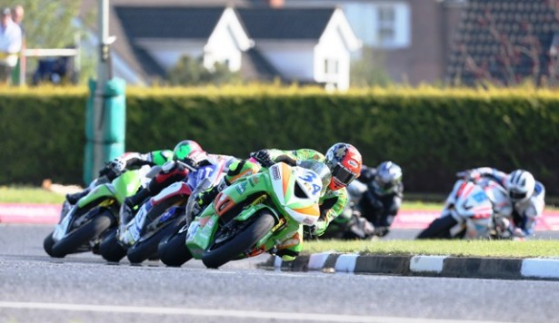 Chequered flag for Mount Charles at NW200