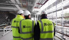Kier share price sinks on profit warning
